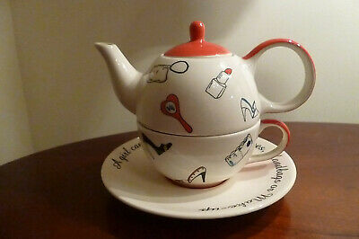 Whittard Of Chelsea Tea For One Teapot Cup & Saucer - Shoes/Handbags/Make-up