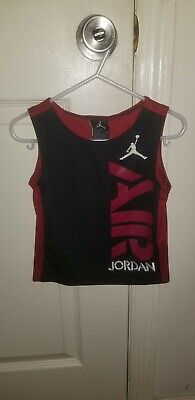 Bots Toddler Air Jordan Brand Basketball Jersey Jumpman Logo Red Black 2T