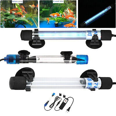 Submersible Aquarium UV Light Sterilizer Pond Fish Tank Germicidal Clean Lamp RK