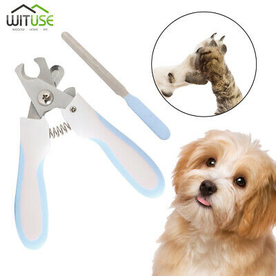 Pet Dog Cat Nail Trimmer Cutter Grooming Tool Grinder Clipper+Free Nail File 7A