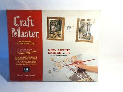 Vintage 1950'S CRAFT MASTER Oil Paint by Number Vacation Days