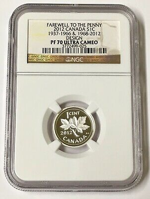 2012 S1C Canada Farewell to the Penny 1937-1966& 1968-2012 Design NGC PF 70 U/C
