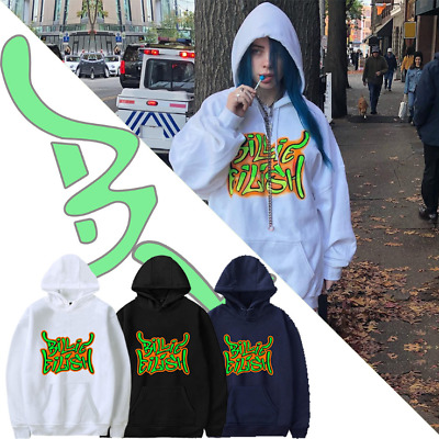 Billie Eilish  Hoodie Mens Womens Print Sweatshirt Pattern Cotton Pullover Tops