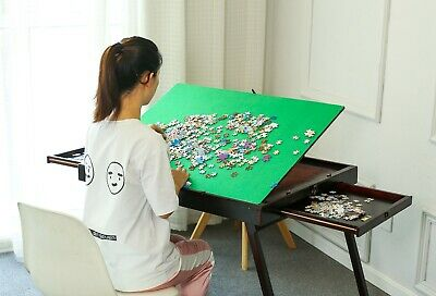 Super Folding Wooden Jigsaw Puzzle Storage Table Carry Board 1000pcs