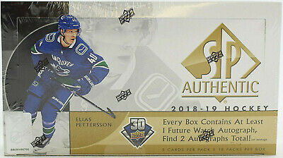 2018/19 Upper Deck SP Authentic Hockey Hobby Box NHL Factory Sealed NEW