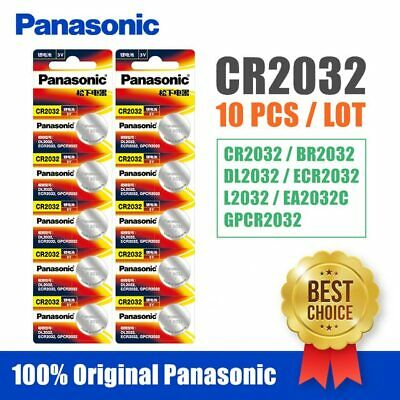 10pcs Panasonic cr 2032 Button Cell Batteries 3V Coin Battery For Watch cr2032