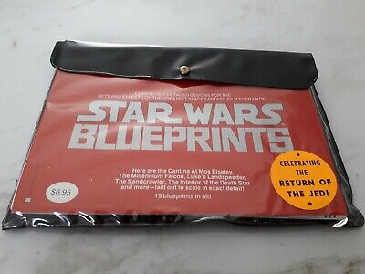 Vintage Starwars Blueprints Brand New In Packet 15 Blue Prints Included