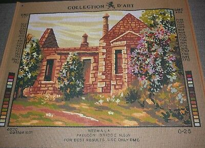 Tapestry Canvas Weemala Building N.S.W. Collection D'Art DMC New