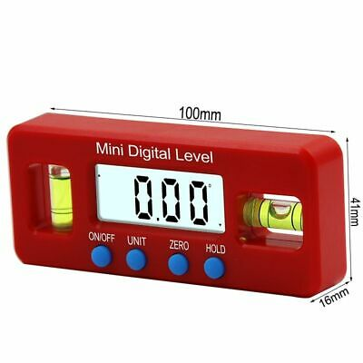 Digital Protractor Inclinometer Level Box Angle Finder Bevel Gauge Lcd Magnetic