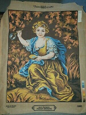 Tapestry Canvas Margot Creations de Paris P. Mignard Jeux d'enfants