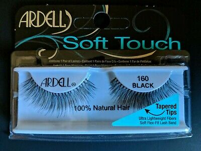 33a6de0ab14 ARDELL SOFT TOUCH Lashes, 160 BLACK - 100% Natural Hair, Tapered ...