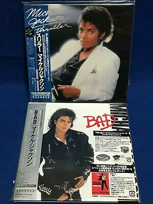 LOT 2 Michael Jackson Japan Mini LP CD Thriller Bad EICP 1195 1196 Paper Sleeve