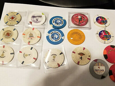 Trump Taj Mahal MGM Red Rock Caesars Hooters More. Mixed Used Lot Casino Chips