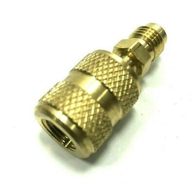 """Anti-Blow Back Straight Adapter 1/4"""" - Low Loss Fitting for HVAC Charging Hoses"""