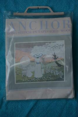 NEW ANCHOR Longstitch STARTER KIT with Wool-Canvas #1063. TEA on the LAWN. BNIP