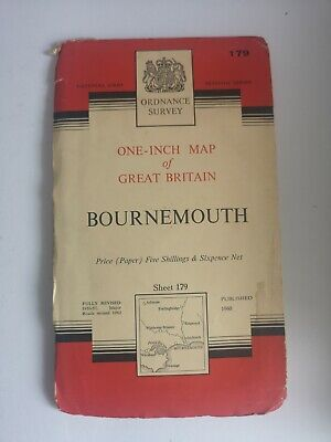 Ordnance Survey Map 1962 Bournemouth Sheet 179 vintage map