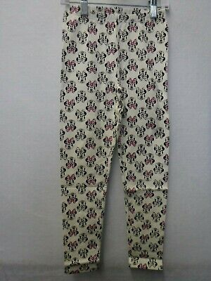 Girls Size 8 Jumping Beans Disney White Minnie Mouse Leggings Pants New #15879