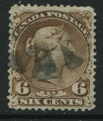 Canada 1868 6 cents Large Queen  used