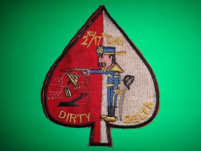 US Army D Troop 2nd Squadron 17th Cavalry Regiment DIRTY DELTA Patch
