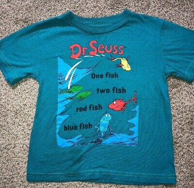 Toddler Boy Dr Seuss Shirt 2T One Fish Two Fish