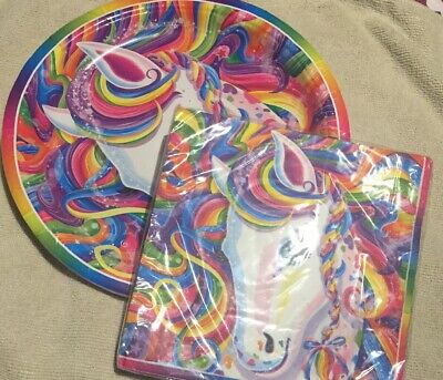 LISA FRANK MAJESTY Rainbow Horse Birthday Party Supply Kit Set W