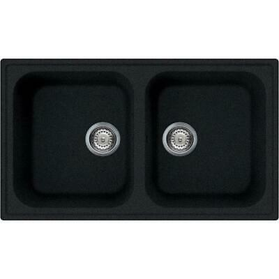 Smeg LZ862A Sink Basin Double Tank Synthetic Recessed Anthracite 86 CM