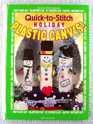 Plastic Canvas Patterns Quick to Stitch All Holidays Christmas Easter 100+ Chart