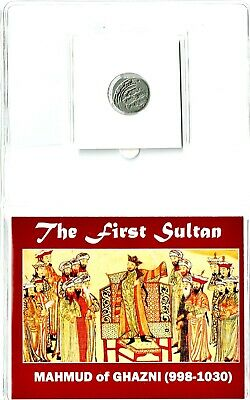 First Sultan,Silver Coin of Mahmud of Ghazni Mid-Sized Album Story,Certificate