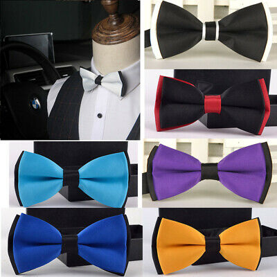 Man Bowtie Classic Wedding Party Satin gift Multicolor Adjust Bow tie style