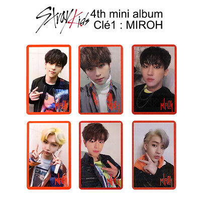 STRAY KIDS - 4th mini album : CLÉ 1 : MIROH Official Photocard - Red Ver.