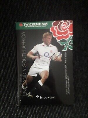2004-England V South Africa-Autumn Test International Rugby Union Programme
