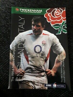 2005-England V Italy-Italia-Six Nations-International-Rugby Union Programme