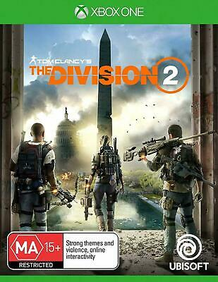 Brand New Tom Clancy's The Division 2 Xbox One Game Download Card
