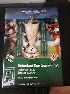 2005-Leicester V Toulouse-Heineken Cup Semi Final-European Rugby Union Programme