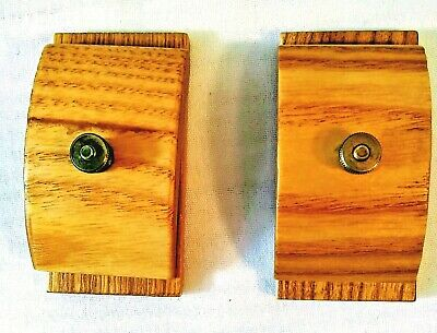 Hang Ups Quilt Tapestry Hangers 2 Piece Set Made In USA Oak Wood With Hardware