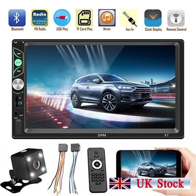 """Android 8.1 Double DIN 7""""HD Auto Car Stereo GPS Sat Navi DAB+ WiFi Radio Player"""
