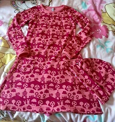 Maxomorra dress & matching hat age 7/8 In excellent condition