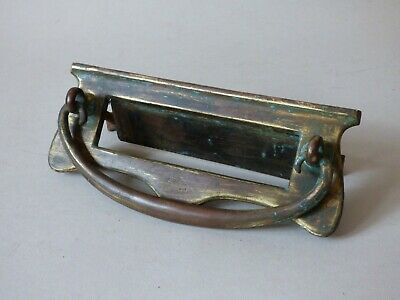 Old Collectable Architectural Brass Slot Letterbox Knocker Opener Free Uk P+P