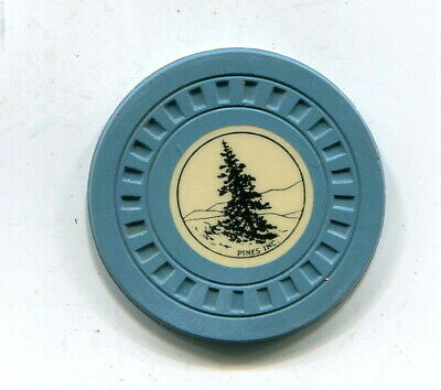 Pines,Inc New Albany Indiana Illegal Gambling Chip 1929-1940'S  Pine Tree