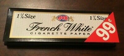 Job French White Lights 12 Packs/24 Per Pack)Box Rolling Papers 1 1/4*1.25