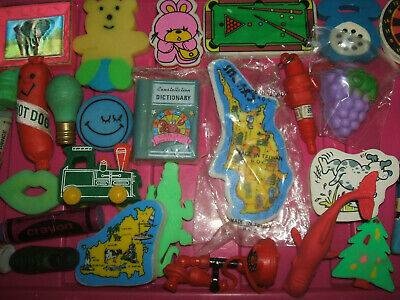 RARE VINTAGE 1980s COLLECTION OF ERASERS RUBBERS - LOT 3
