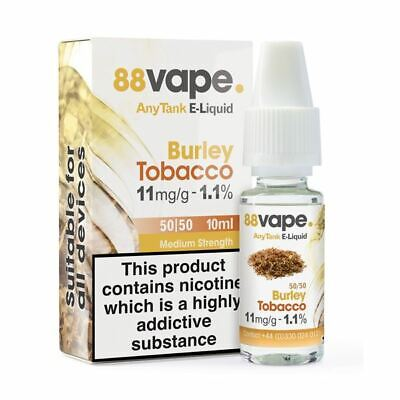 88VAPE VALUE Pack of 20 E-Liquids BURLEY TOBACCO 11mg BULK BUY MADE IN THE UK