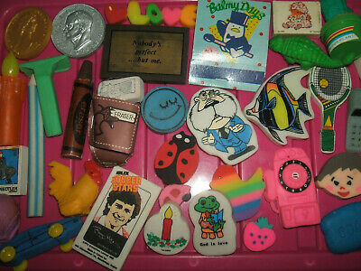 RARE VINTAGE 1980s COLLECTION OF ERASERS RUBBERS - LOT 5