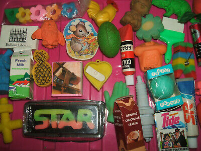RARE VINTAGE 1980s COLLECTION OF ERASERS RUBBERS - LOT 6