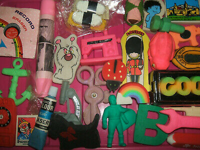 RARE VINTAGE 1980s COLLECTION OF ERASERS RUBBERS - LOT 7