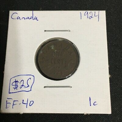 1924 1 Cent Canada MUST SEE   No Reserve!  (Coin #804)