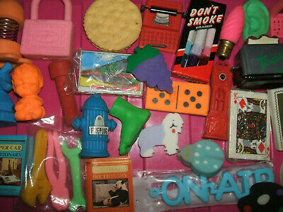 RARE VINTAGE 1980s COLLECTION OF ERASERS RUBBERS - LOT 13