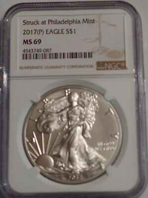 2017(P) Ngc American Silver Eagle Ms69