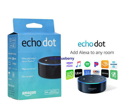 New Amazon Echo Dot 2nd Generation w/ Alexa Voice Media Device black