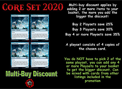 MTG Core Set 2020 M20 Choose your Uncommon Playset (x 4 Cards) Buy 2 save 15%